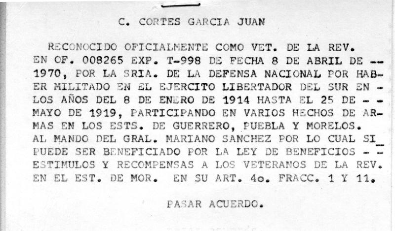 Notificación de Reconocimiento como Veterano de la Revolución y beneficiario de  la Ley de Beneficios, Estímulos y Recompensas a los Veteranos de la Revolución del Estado de Morelos.pdf