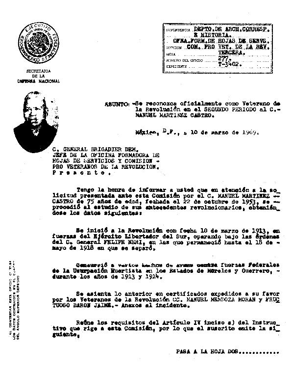 Oficio de Reconocimiento Oficial como Veterano de la Revolución en el Segundo Periodo.pdf