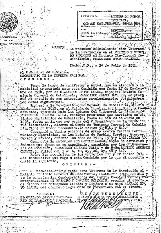 Oficio de Reconocimiento Oficial como Veterano de la Revolución del Primer y Segundo Periodo.pdf