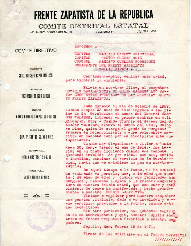 Narración de la vida del veterano por parte del frente Zapatista de la República.pdf