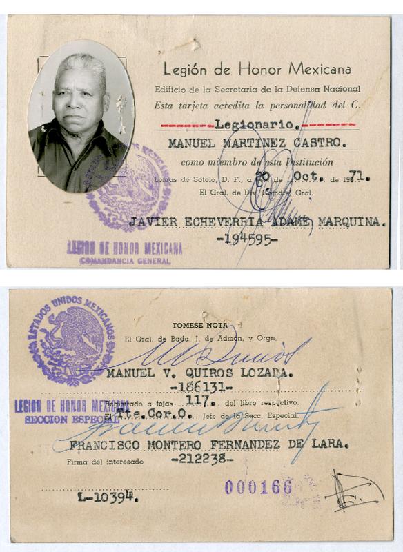 Tarjeta de identificación como miembro de la Legión de Honor Mexicana.pdf
