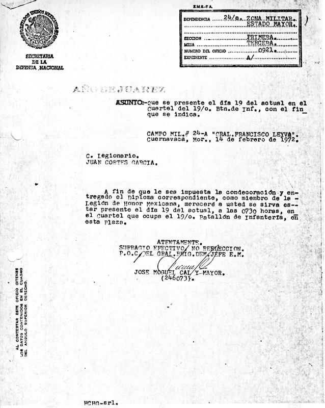 Oficio de Citación para obtener la Condecoración de Legión de Honor.pdf